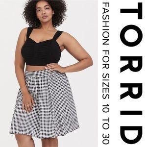 Torrid Black & White Gingham Challis 2-Piece Set